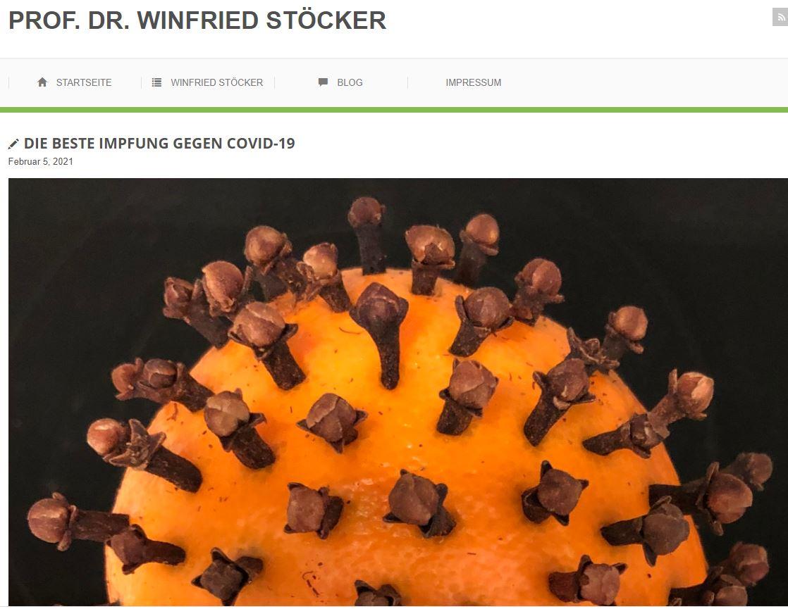Screenshot des Blogs von Professor Winfrid Stöcker